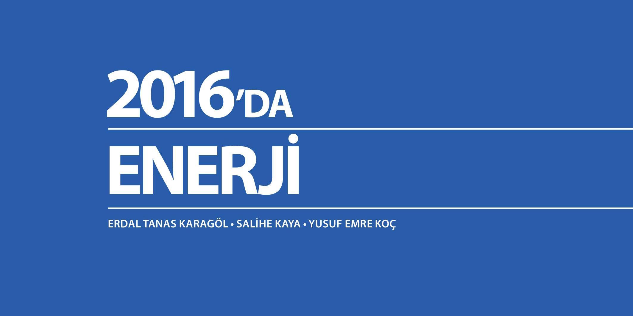 2016'da Enerji