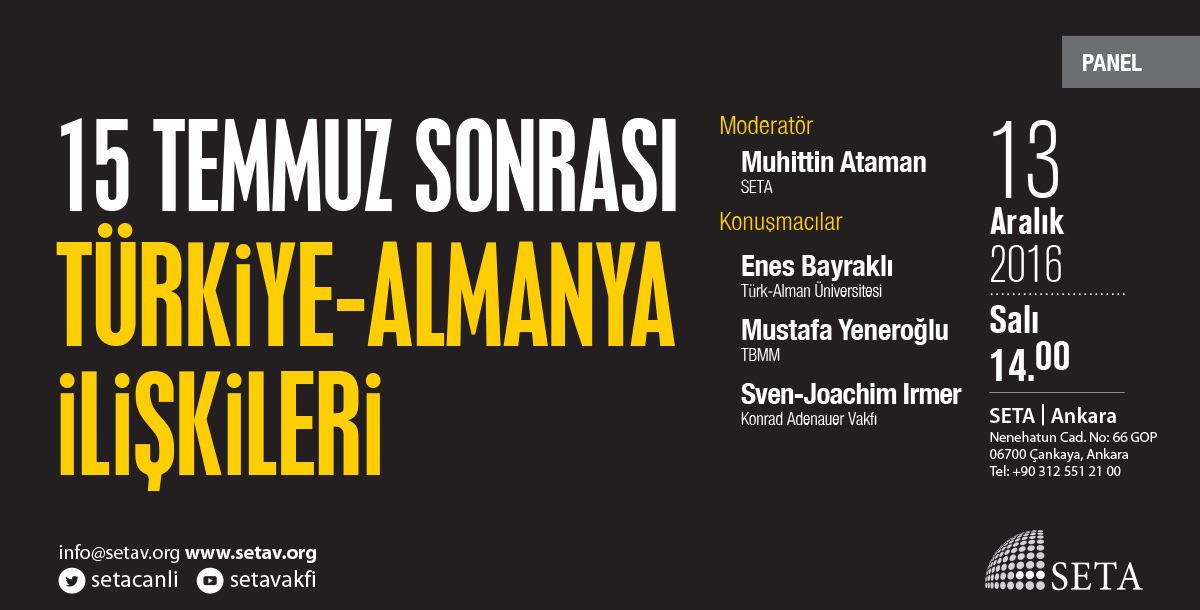 15 Temmuz Sonrası Türkiye-Almanya İlişkileri
