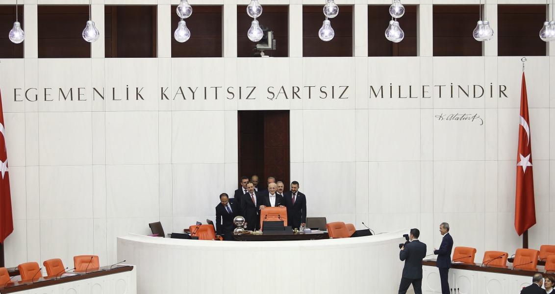 TBMM Genel Kurulu, İsmail Kahraman başkanlığında toplandı. ( Emrah Yorulmaz - Anadolu Ajansı )