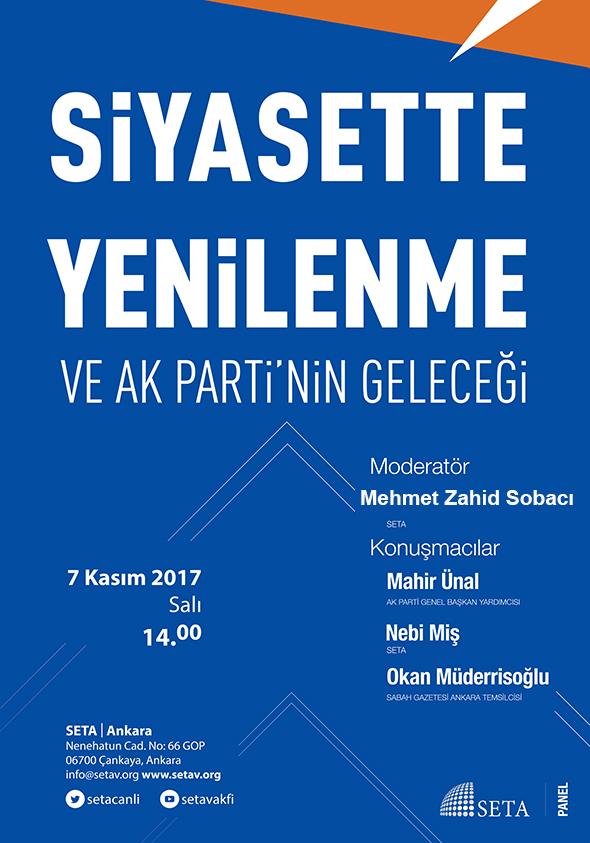 Siyasette Yenilenme ve AK Parti'nin Geleceği