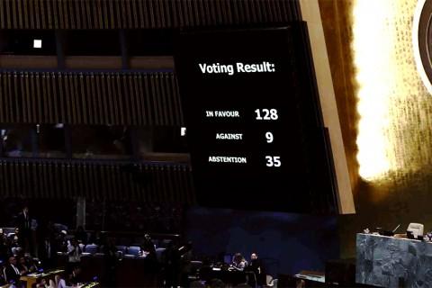 BM Kudüs Statüsü Oylama Sonucu