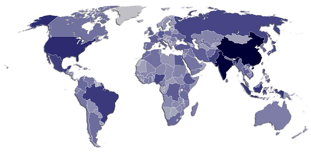 Dünya Nüfus Dağılımı
