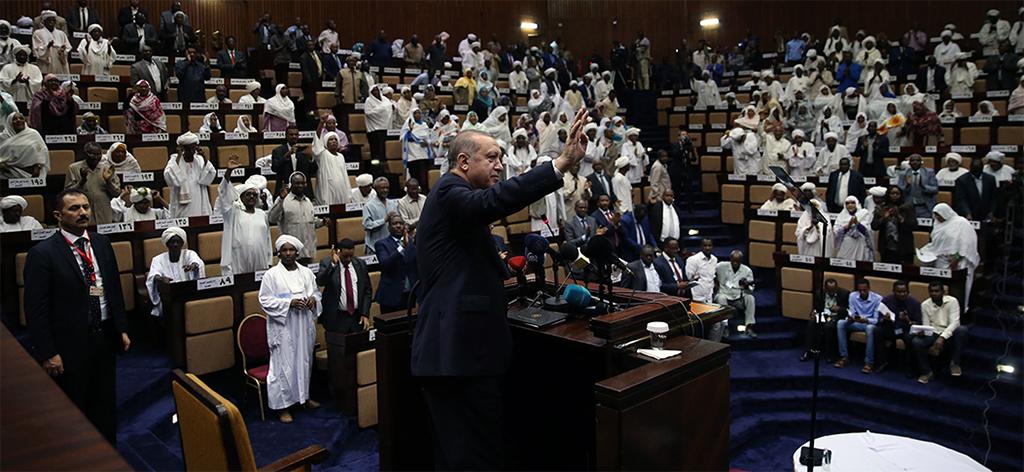 Cumhurbaşkanı Recep Tayyip Erdoğan Sudan Milli Meclisi'nde