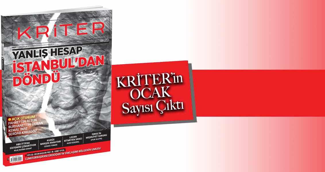 Kriter Dergisinin Ocak Sayısı Çıktı