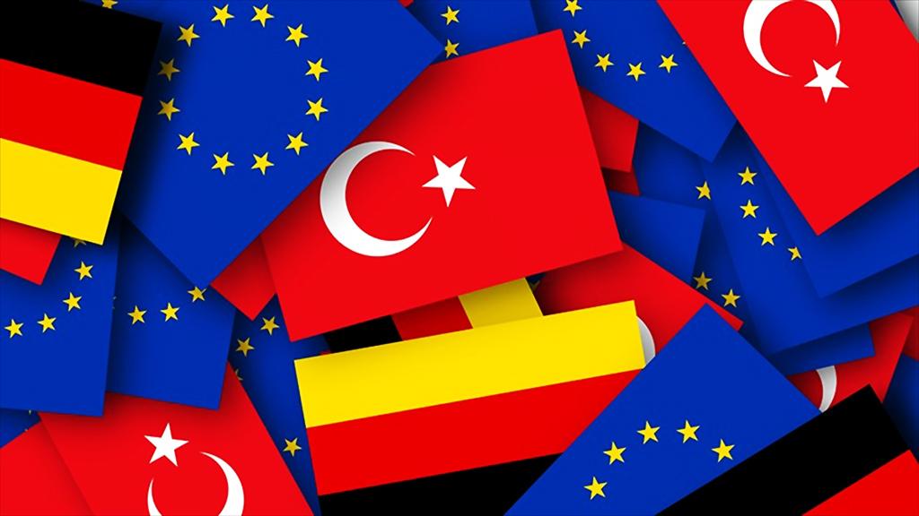 Türkiye - Almanya - AB bayrakları