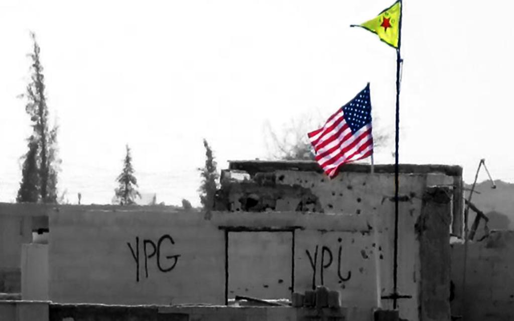 YPG ve Amerikan Bayrağı