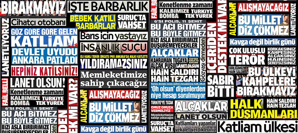 Rapor: Türk Medyasında Terörün Ele Alınışı