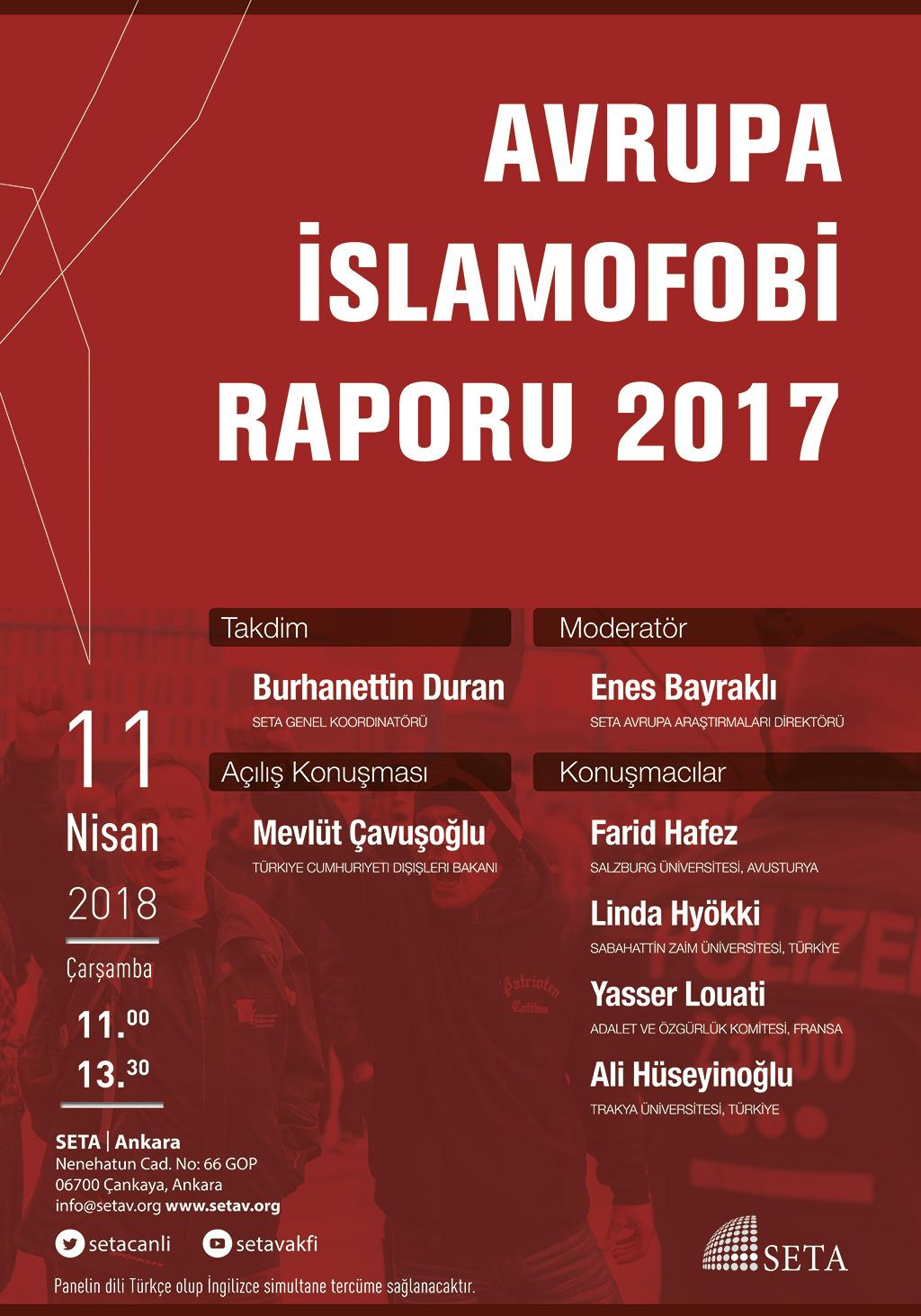 Panel: Avrupa İslamofobi Raporu 2017