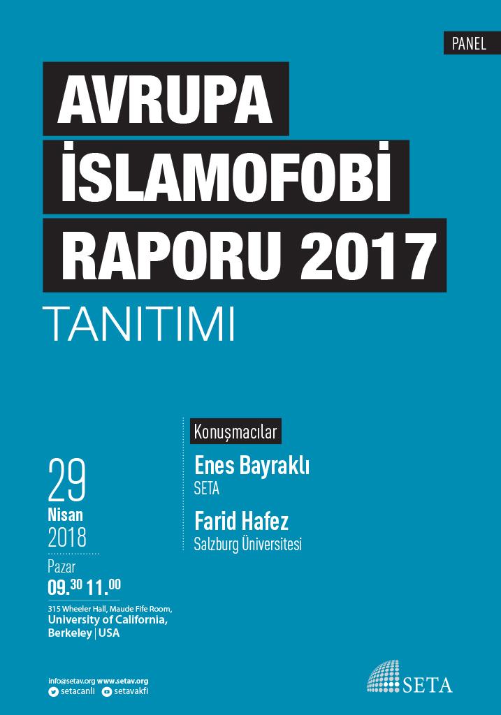PANEL: Avrupa İslamofobi Raporu 2017 Tanıtımı