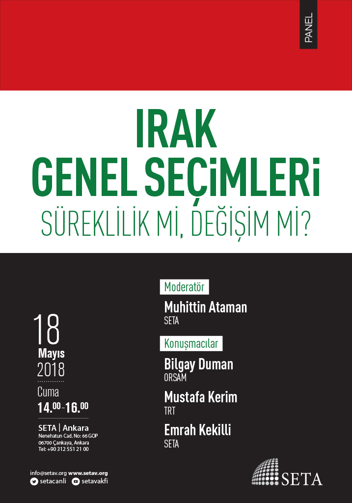 Panel | Irak Genel Seçimleri: Süreklilik mi, Değişim mi?