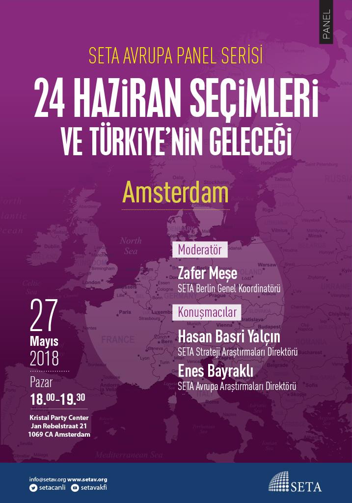 Panel: Amsterdam | 24 Haziran Seçimleri ve Türkiye'nin Geleceği