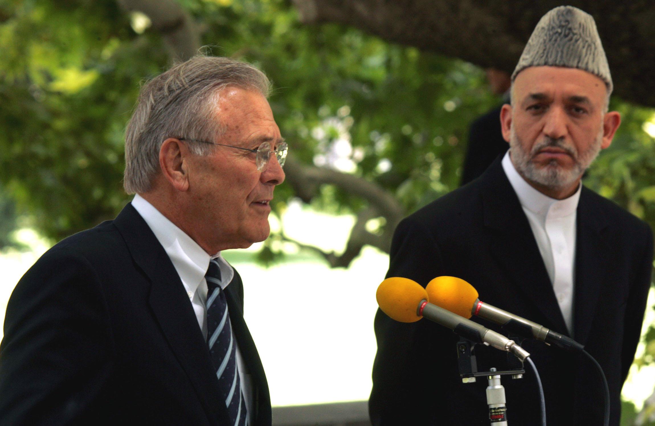 """أثر """"دونالد رامسفيلد"""" في السياسة الخارجية للولايات المتحدة"""