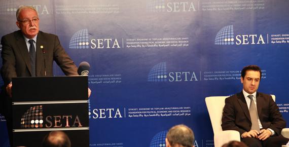 Filistin Dışişleri Bakanı El-Maliki SETA'da konuştu