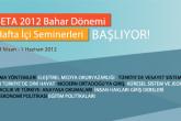 SETA 2012 Bahar Dönemi  Hafta İçi Seminerleri Başlıyor!