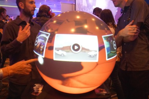 LOS ANGELES, USA - JANUARY 25: Latest 360-degree projection system produced by Pufferfish is seen during the VRLA virtual reality fair in Los Angeles, USA on January 25, 2016.   ( Mintaha Neslihan Eroğlu - AA )
