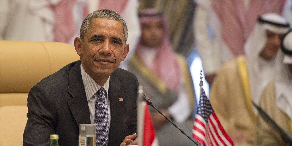 Körfez İşbirliği Konseyi (KİK)- ABD Zirvesi, ABD Başkanı Barack Obama'nın katılımıyla, Suudi Arabistan'ın başkenti Riyad'taki Dıriyye Sarayı'nda başladı.  ( Pool / Bandar Algaloud - Anadolu Ajansı )