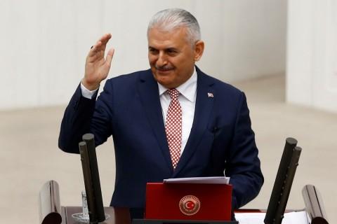 AK Parti Genel Başkanı ve Başbakan Binali Yıldırım, 65. hükümet programını TBMM Genel Kurulu'na sundu. ( Mehmet Ali Özcan - Anadolu Ajansı )