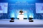 Cumhurbaşkanı Recep Tayyip Erdoğan, Grand Tarabya Otel'de düzenlenen TİM 23. Olağan Genel Kurulu ve İhracat Şampiyonları ödül töreninde konuşma yaptı. ( Cumhurbaşkanlığı/Yasin Bülbül - Anadolu Ajansı )