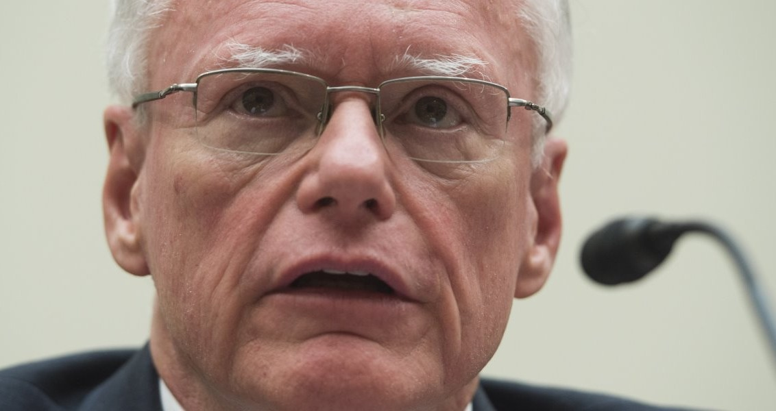 James Jeffrey, a former US Ambassador to Iraq, Turkey and Albania, testifies on the Islamic State during a US House Committee on Foreign Affairs hearing on Capitol Hill in Washington, DC, February 12, 2015. AFP PHOTO / SAUL LOEB / AFP PHOTO / SAUL LOEB