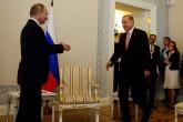 Cumhurbaşkanı Recep Tayyip Erdoğan ve Rusya Federasyonu Devlet Başkanı Vladimir Putin, St. Petersburg Konstantinovski Sarayı'nda bir araya geldi. ( Murat Kaynak - Anadolu Ajansı )
