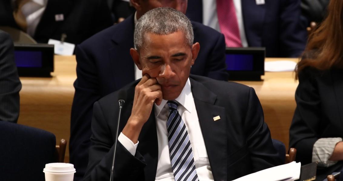 """Cumhurbaşkanı Recep Tayyip Erdoğan, BM Genel Merkezi'nde ABD Başkanı Barack Obama'nın ev sahipliğinde düzenlenen """"mülteciler"""" konulu Liderler Zirvesi'ne katıldı. ( Bilgin S. Şaşmaz - Anadolu Ajansı )"""