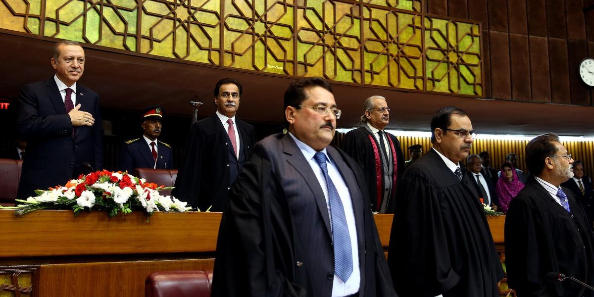 Cumhurbaşkanı Recep Tayyip Erdoğan, Pakistan Parlamentosunda gerçekleştirilen Ulusal Meclis ve Senato ortak oturumuna katıldı. ( Kayhan Özer - Anadolu Ajansı )