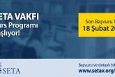 SETA 2019 Bahar Dönemi Kurs Programı