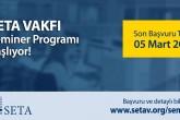 SETA 2019 Bahar Dönemi Seminerleri Başlıyor