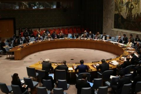 Birlemiş Milletler Güvenlik Konseyi (BMGK), İsveç, Mısır ve Fransa'nın talebi üzerine, Mescid-i Aksa eksenininde Kudüs ve Batı Şeria'da artan gerginliği ve şiddet olaylarını görüşmek üzere toplandı.  ( Mohammed Elshamy - Anadolu Ajansı )