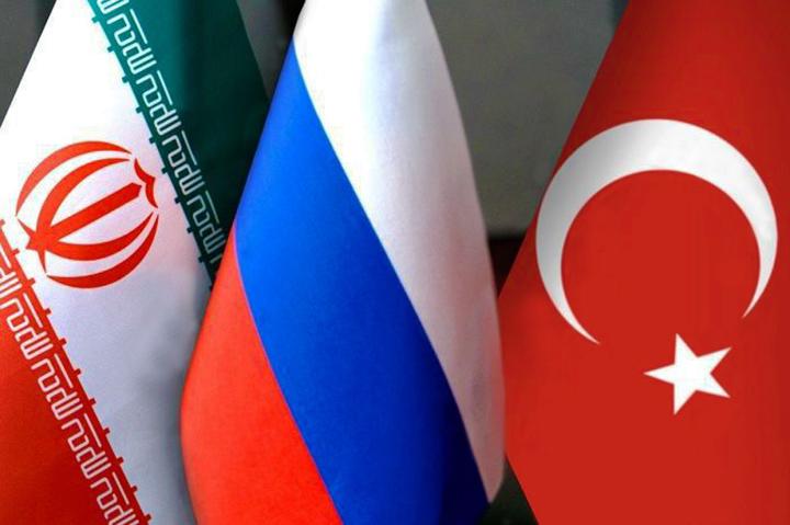 İran Rusya Türkiye bayrakları