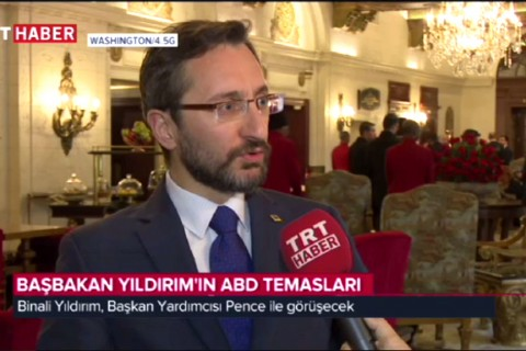 SETA İstanbul Genel Koordinatörü Fahrettin Altun, Başbakan Yıldırım'ın ABD temaslarına ilişkin TRT Haber'e değerlendirmelerde bulundu
