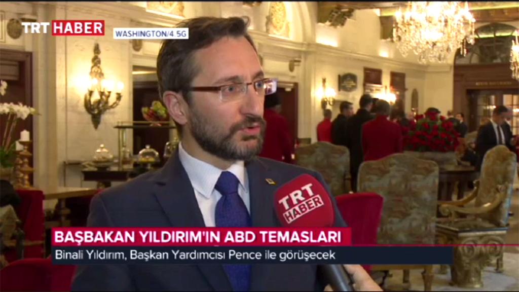 SETA İstanbul Genel Koordinatörü Fahrettin Altun, Başbakan Yıldırım'ın ABD temaslarına ilişkin değerlendirmelerde bulundu
