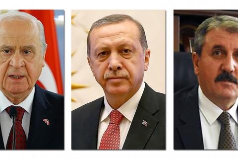 Cumhur İttifakı: Bahçeli - Erdoğan - Destici