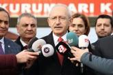 Kemal Kılıçdaroğlu ve omuz hizasonda Canan Kaftancıoğlu