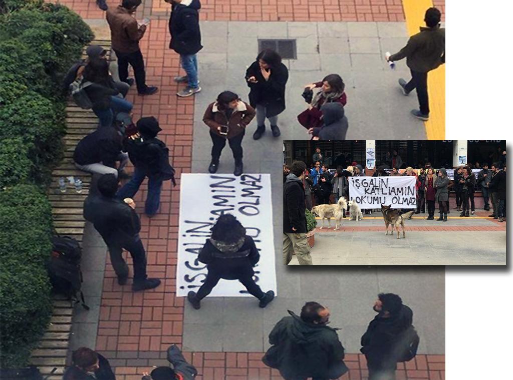 Boğaziçi Üniversitesinde PKK destekçileri