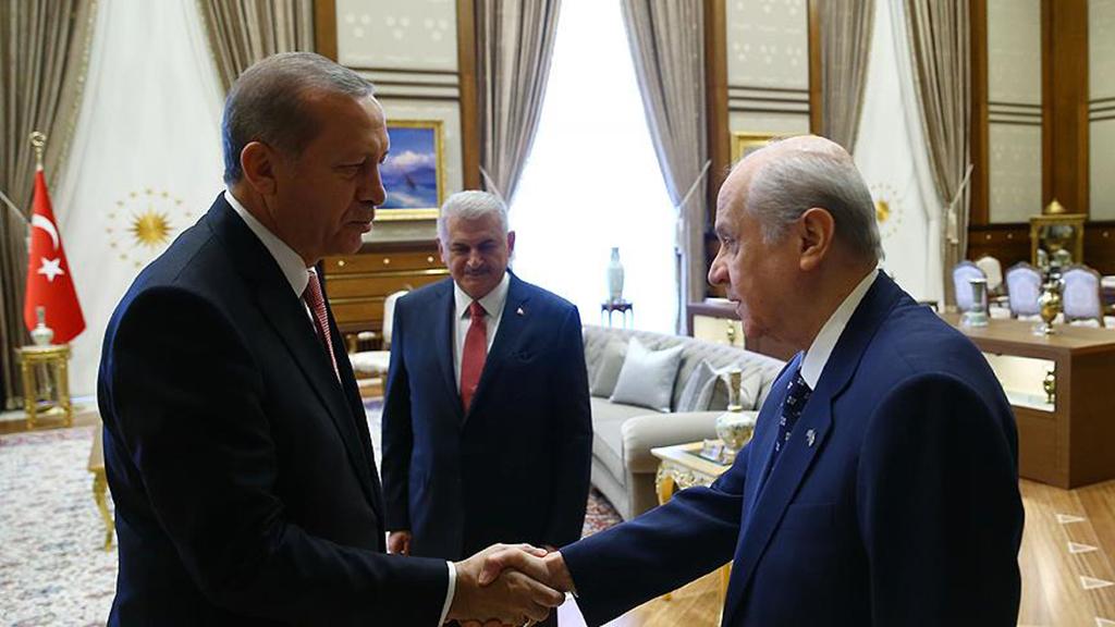 Devlet Bahçeli, Recep Tayyip Erdoğan, Binali Yıldırım