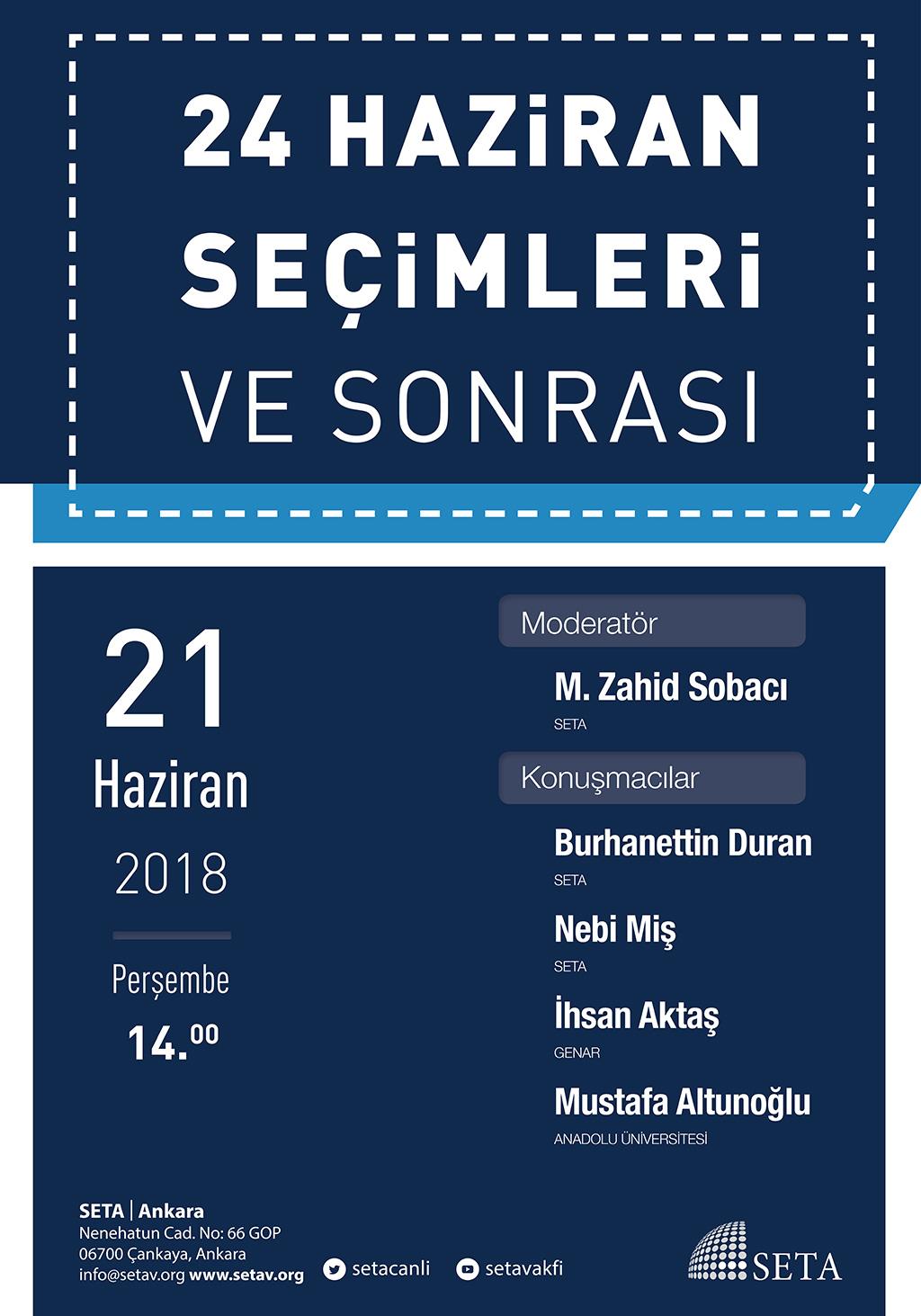 Panel: 24 Haziran Seçimleri ve Sonrası