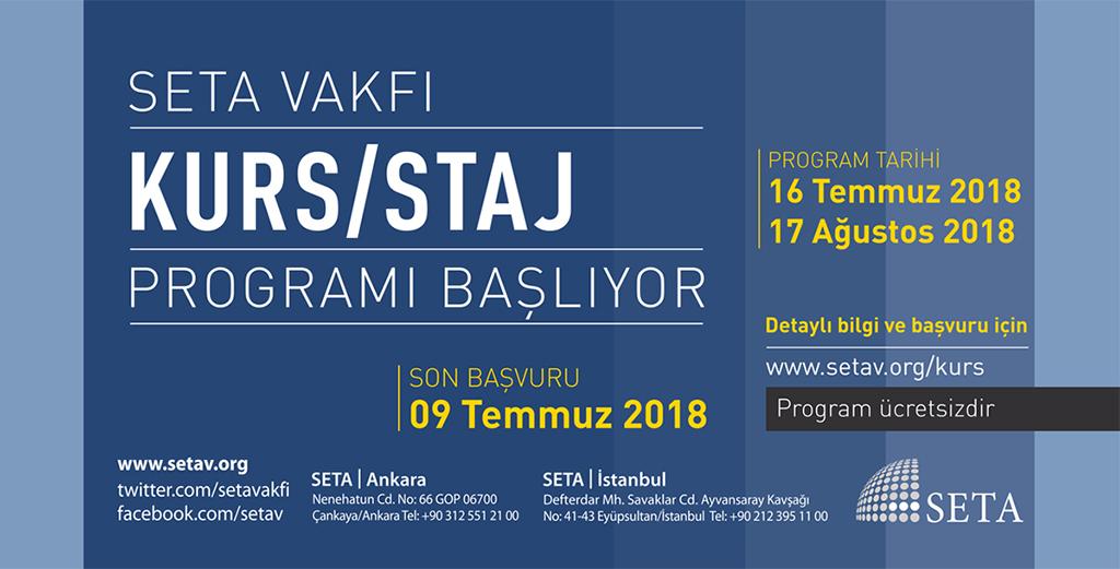 SETA 2018 Yaz Kurs/Staj Programı Başlıyor