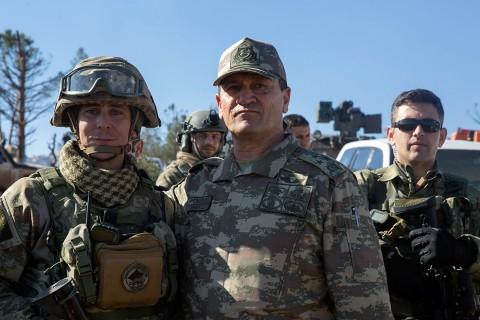 Zeytin Dalı Harekatı'nın komutanı Korgeneral Temel, Burseya Dağı'nda
