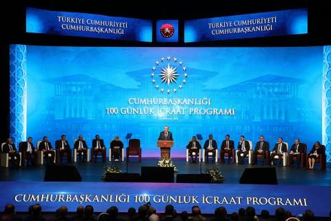 Cumhurbaşkanı Erdoğan, 100 Günlük İcraat Programı'nı açıkladı
