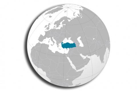 Türkiye - Dünya - Yerküre - Harita