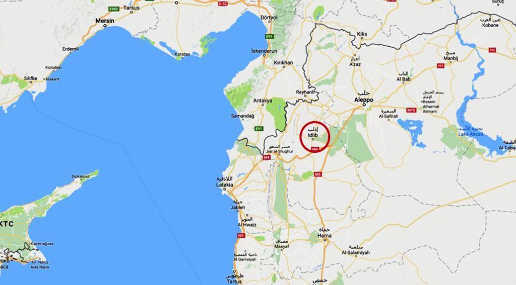 İdlib - Harita