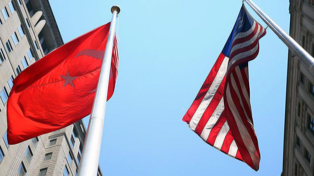 Türk ve Amerikan Bayrakları