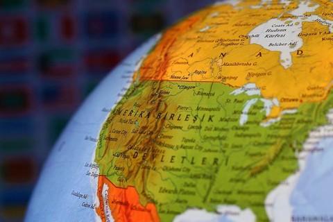 ABD Haritası - Yer küre
