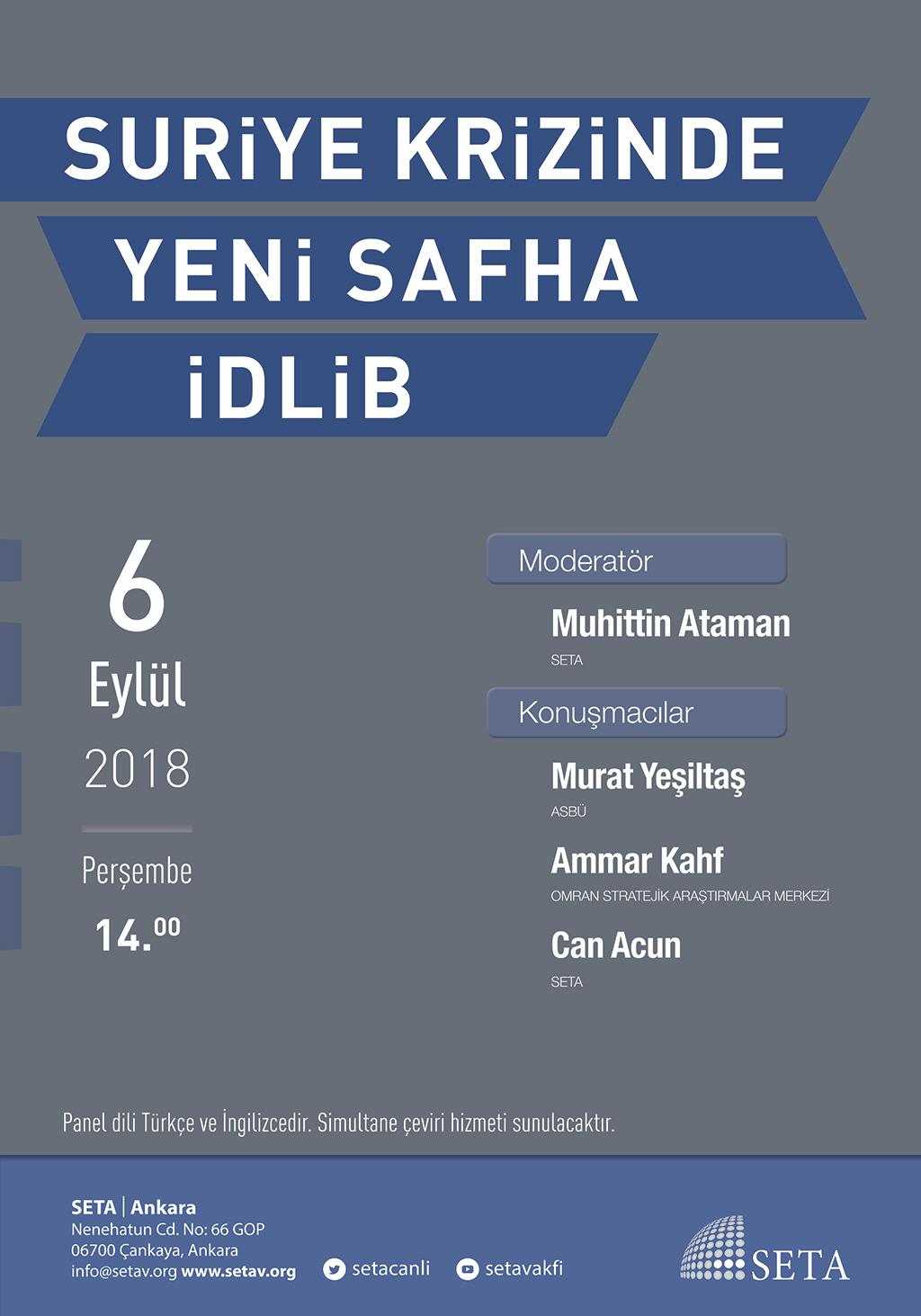 Panel: Suriye Krizinde Yeni Safha İdlib