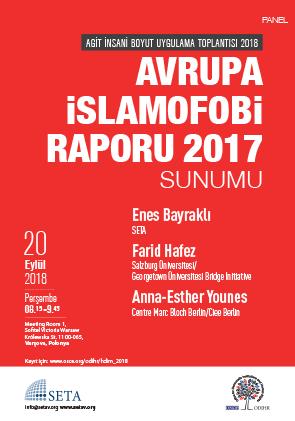 AGİT İnsani Boyut Uygulama Toplantısı 2018 | Avrupa İslamofobi Raporu Sunumu 2017
