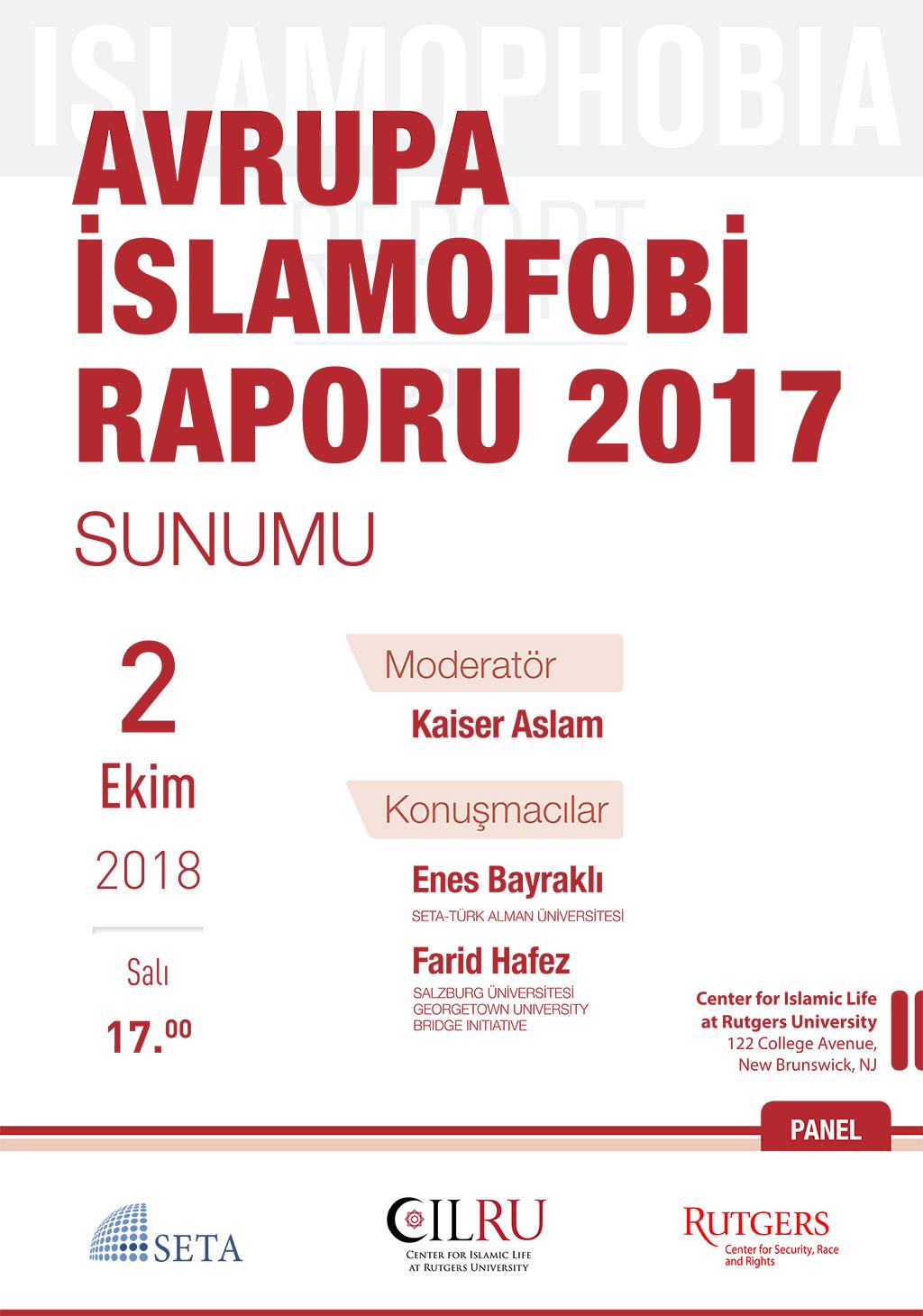 Avrupa İslamofobi Raporu 2017 Sunumu