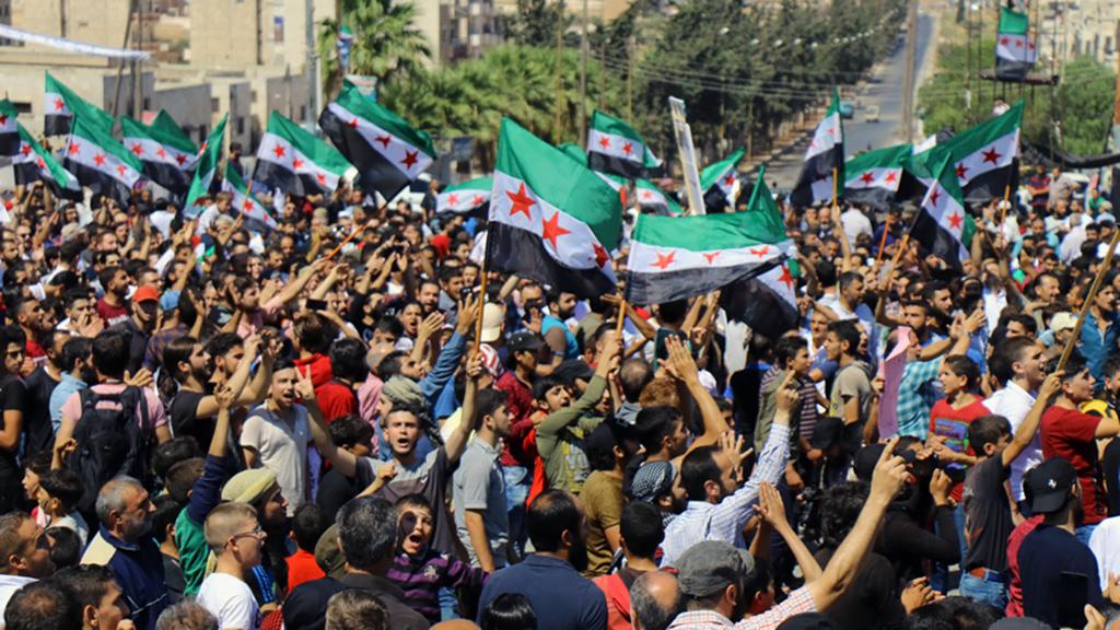 7 Eylül 2018, İdlib | Suriye'nin İdlib ilindeki siviller, Esed rejimi ve müttefiklerinin kente operasyon hazırlıklarına karşı gösteri düzenledi.