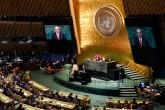 25 Eylül, New York, ABD | Türkiye Cumhurbaşkanı Recep Tayyip Erdoğan, New York'ta Birleşmiş Milletler (BM) 73. Genel Kurulu Görüşmeleri'ne katılarak konuşma yaptı.
