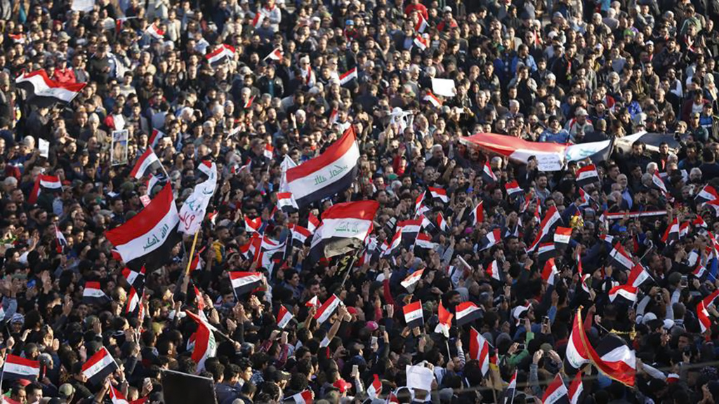 Bağdat'ta göstericiler